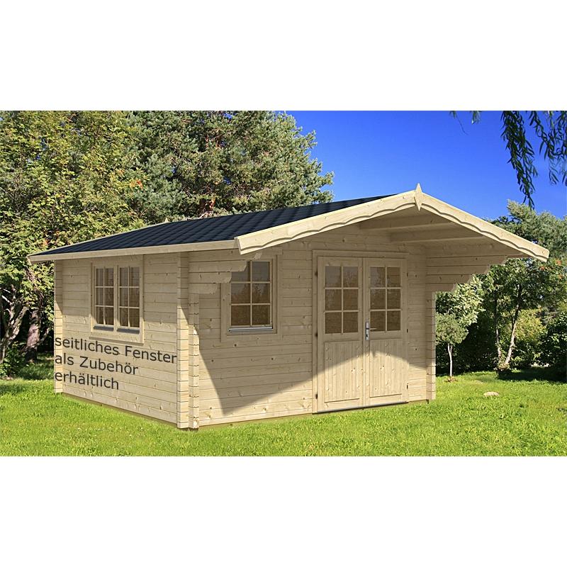 gartenhaus malaga a 380x320cm 70mm 4 39 342 50 chf. Black Bedroom Furniture Sets. Home Design Ideas