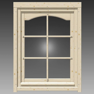 einzelfenster mit rundbogen 865x1210mm links 190 00 chf. Black Bedroom Furniture Sets. Home Design Ideas