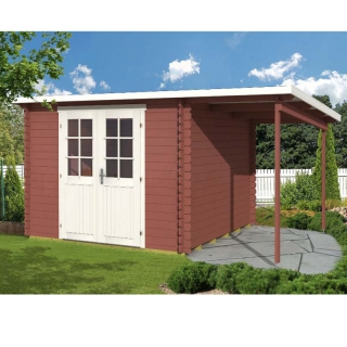 pultdach gartenhaus gloria e mit schleppdach 1 39 837 50 chf. Black Bedroom Furniture Sets. Home Design Ideas