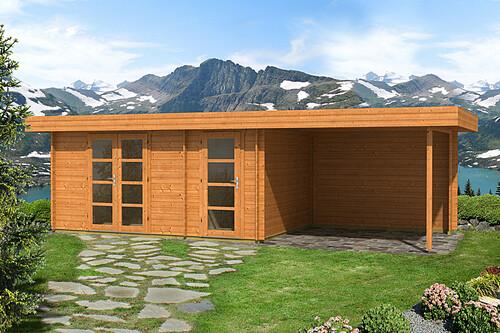 flachdach gartenhaus oriental 4 40mm mit schleppdach 300 cm 4 39 622 25. Black Bedroom Furniture Sets. Home Design Ideas