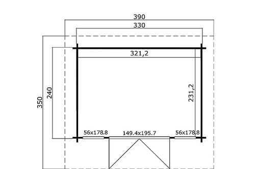 gartenhaus barbados mini iso verglast 2 39 560 00 chf. Black Bedroom Furniture Sets. Home Design Ideas