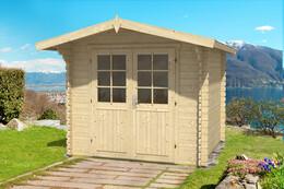 gartenhaus mit 40mm wandst rke. Black Bedroom Furniture Sets. Home Design Ideas