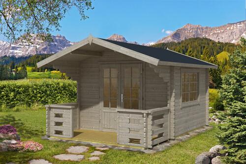 Gartenhaus friesenblau  Gartenhaus Capri Premium 44mm inkl. Terrasse, 2'990,00 CHF