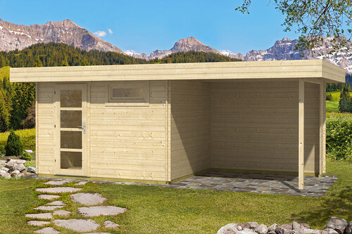flachdach gartenhaus oriental 1 mit schleppdach 300 cm chf 2 39 662 50