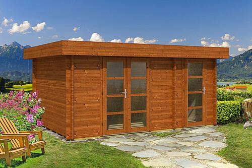 flachdach gartenhaus oriental 4 40mm 3 39 817 50 chf. Black Bedroom Furniture Sets. Home Design Ideas